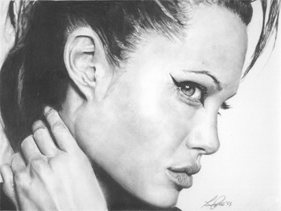 Angelina Jolie Pencil Drawing